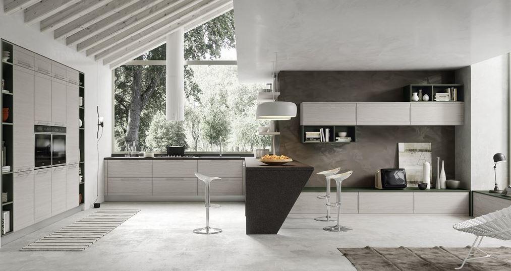 cucina ad angolo e open space